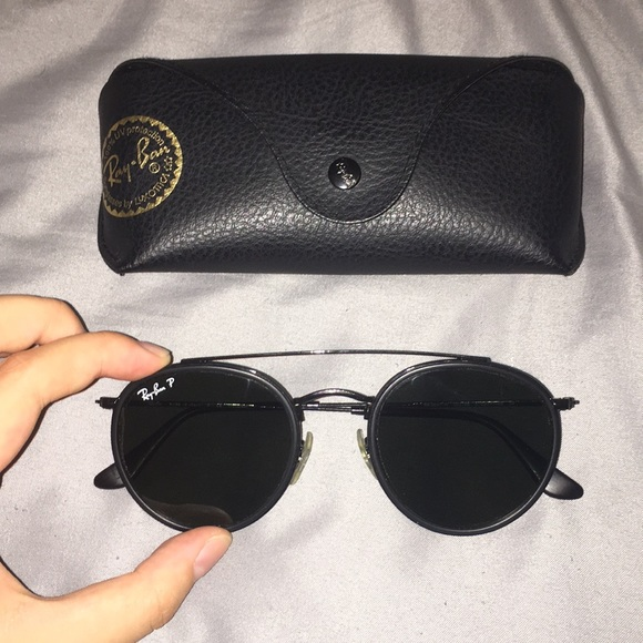 713c48a56c4 Ray-Ban Black Polarized Round Double Bridge 3647. M 5b957f8afe515134c6b4777d